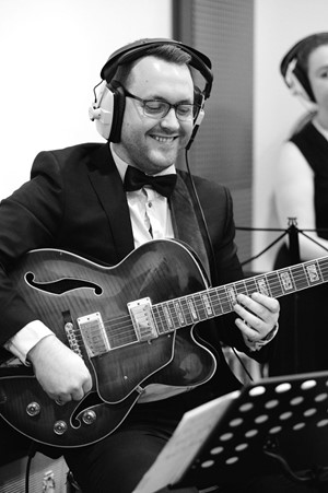 Down for the Count Concert Orchestra - Sam Ainslie guitarist performing at Cold Stores Studios, Kent