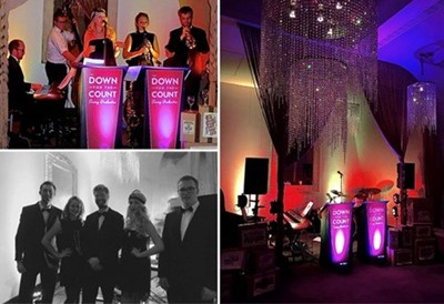 Corporate Christmas party entertainment with Down for the Count swing and soul band