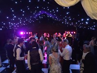 Live party band at a wedding reception at Creslow Manor, Buckinghamshire