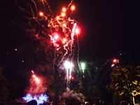 Fireworks for a Jewish wedding at The Elvetham, Hampshire