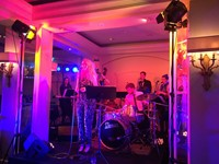 Live wedding band performing at The Berkeley Hotel, London