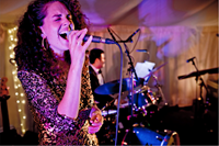 Wedding singer performing live swing and soul music