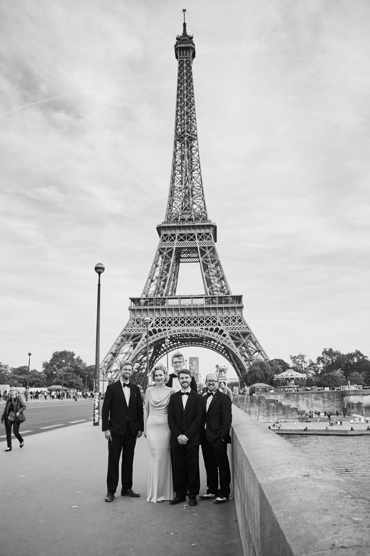 Vintage swing band at the Eiffel Tower, photo by Amber-Rose Smith