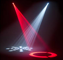 Disco lighting & microphones for speeches