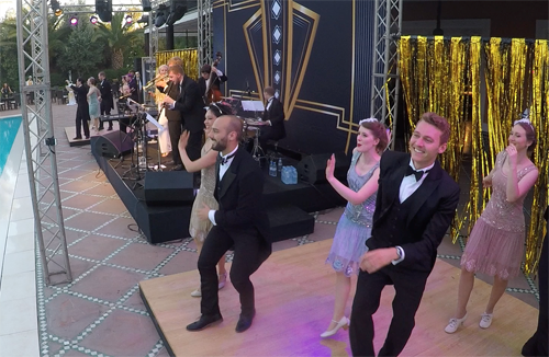 International vintage corporate event entertainment at La Mamounia Hotel, Marrakech