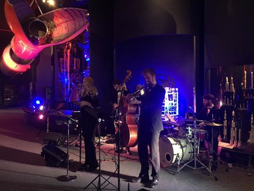 The Down for the Count Jazz Band performing at The Science Museum, London for a corporate event
