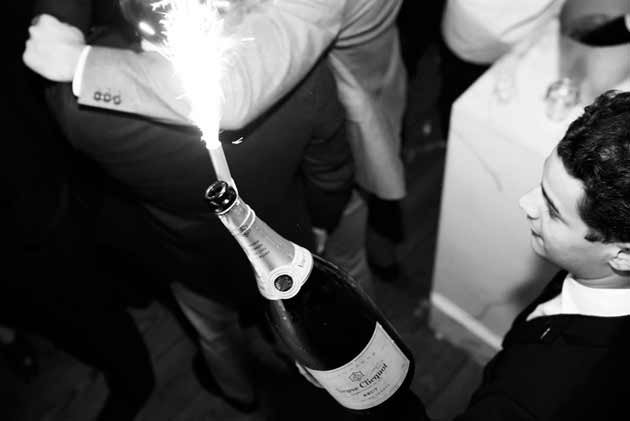 Champagne on New Year's Eve in London