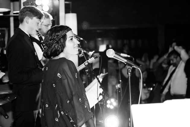 Live music from 1920s styled band on New Year's Eve in London