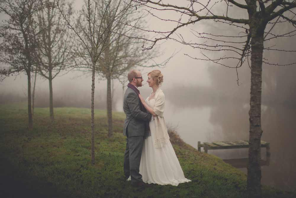 Bride and groom at The Reid Rooms, Essex