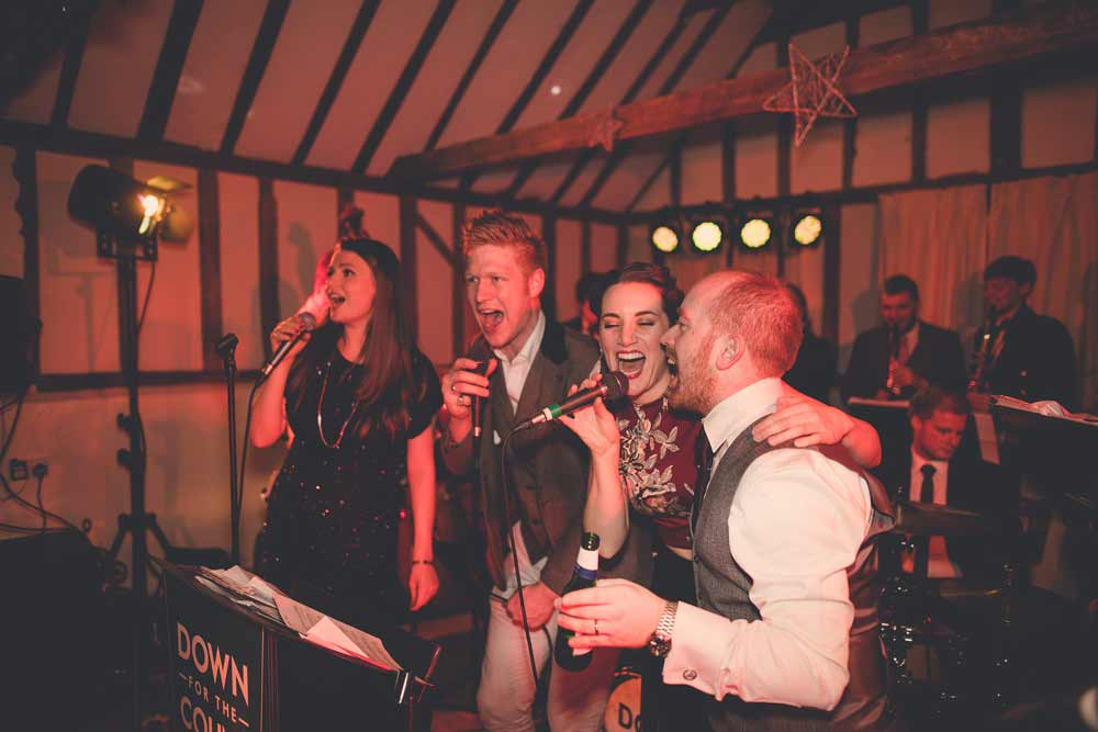 Live wedding band for hire performing at The Reid Rooms, Essex - photo by Indiego Photography