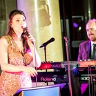 Vocalist Katie Birtill and pianist Mike Paul-Smith performing with Down for the Count at The National Museum, Wales